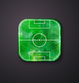 Football soccer icon stylized like mobile app vector image vector image