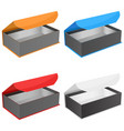 gift box collection open jewelry boxes with vector image vector image