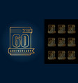 golden anniversary celebration emblem vector image vector image