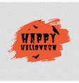 happy halloween poster with orange blot vector image vector image