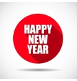 Happy New Year Flat Icon with long Shadow vector image