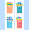hot summer on beach promo internet banners set vector image vector image