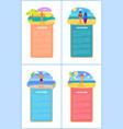 hot summer on beach promo internet banners set vector image