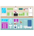 Kitchen and bathroom vector image