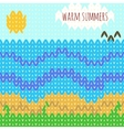 Knitted background warm summers vector image vector image