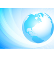 Light blue globe vector image vector image