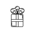 line present gift with ribbon bow design vector image vector image