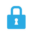 lock icon security symbol flat style isolated vector image vector image