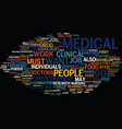 medical careers text background word cloud concept vector image vector image