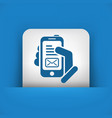 message on smartphone icon vector image