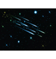 night sky with shooting stars 1806 vector image vector image