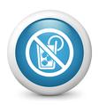 No alcohol glossy icon vector image vector image