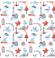 pattern with marine issues vector image vector image