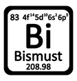 Periodic table element bismuth icon vector image vector image