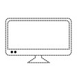 plasma tv isolated icon vector image vector image