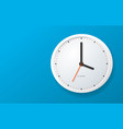 Realistic detailed 3d clock banner horizontal