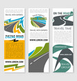 road trip and car journey banner template design vector image vector image