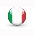 Round icon with national flag of Italy vector image vector image