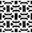 Seamless pattern with pencil style in black vector image vector image