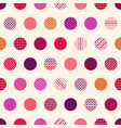 seamless polka dots with geometric texture pattern vector image vector image