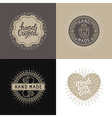 set of design elements badges and labels in vector image vector image