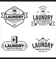 set of labels or logos for laundry service vector image