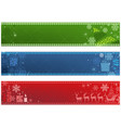 set three christmas banners vector image vector image