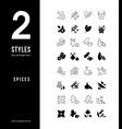 simple line icons spices vector image