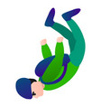 skydiver in green clothes icon cartoon style vector image vector image