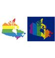 spectrum pixel dotted canada map vector image vector image