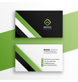 stylish green professional business card design vector image vector image