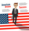 successful young businessman goes down the stairs vector image vector image