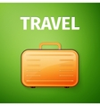 suitcase poster vector image vector image