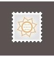 Sunflower stamp Outline vector image