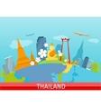 Thailand Travelling banner Thai Landmarks vector image vector image