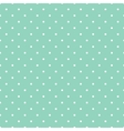 Tile pattern white polka dots on green background vector image vector image