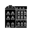 townhouse black icon concept townhouse vector image vector image