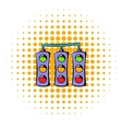 Traffic lights icon comics style vector image vector image