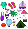 vacation travel summer vector image