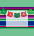 viva mexico background with copy space for vector image vector image