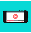 Web Template of Smartphone Video Form vector image