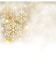 white golden winter christmas background with vector image vector image