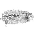 why lakeside cabins for rent are great summer vector image vector image