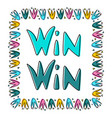 win-win business concept vector image