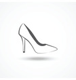 Womans shoe icon vector image