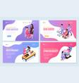 women health isometric horizontal banners vector image vector image