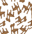 wooden chair pattern vector image vector image