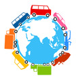 world of cars vector image vector image