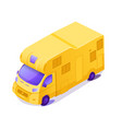 yellow rv isometric 3d color vector image vector image