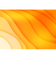 Bright orange waves abstract background vector image